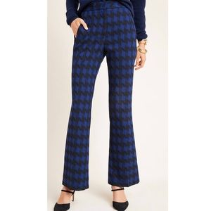 Wiley Windowpane Bootcut Trousers Anthropologie